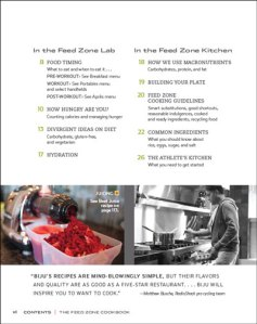 The Feed Zone Cookbook Table of Contents image