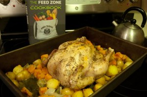 The Feed Zone Cookbook recipe whole roasted chicken