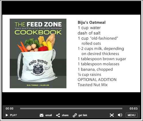 The Feed Zone Cookbook - Biju's Oatmeal