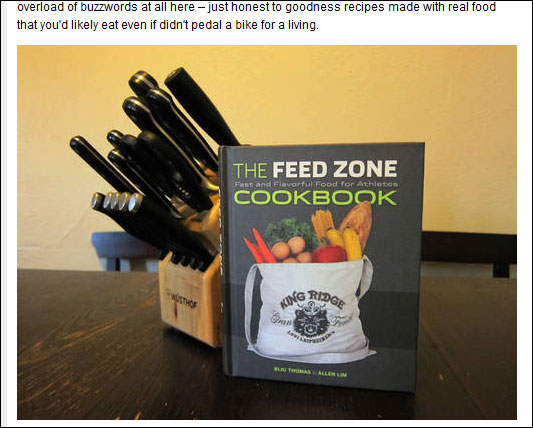 feed zone cookbook bike radar