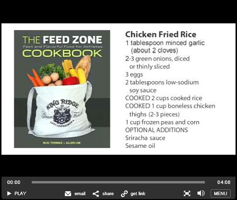 Inside the Feed Zone video series velonews.com chicken fried rice