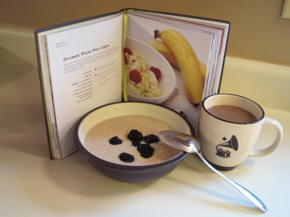Feed Zone Cookbook sweet rice porridge