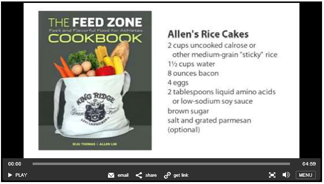 Allen Lim rice cakes Feed Zone Cookbook velonews