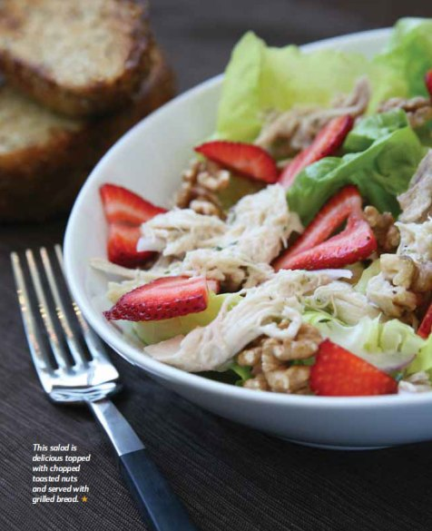 light and healthy Strawberry Chicken Salad