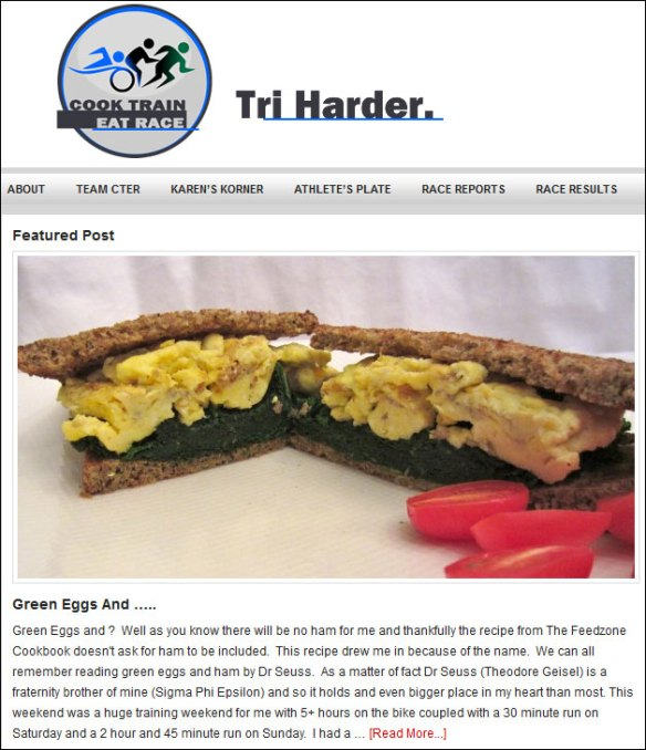 cook train eat race eggs and greens feed zone cookbook