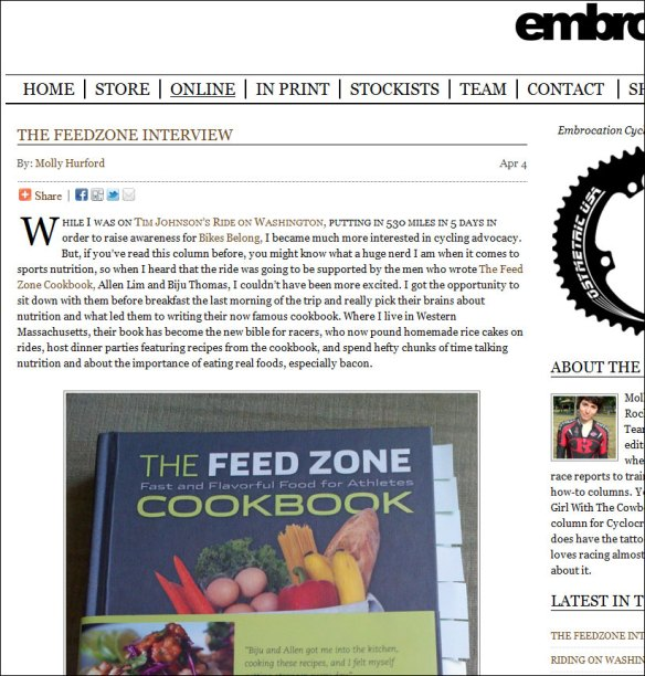 embrocation feed zone cookbook
