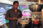Biju Thomas in the Skratch Labs Mobile Kitchen food truck