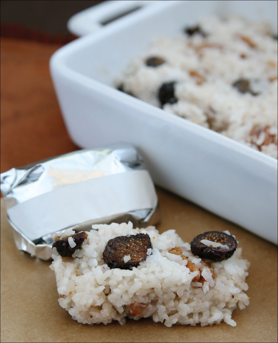 Feed Zone Cookbook fig and honey rice cakes