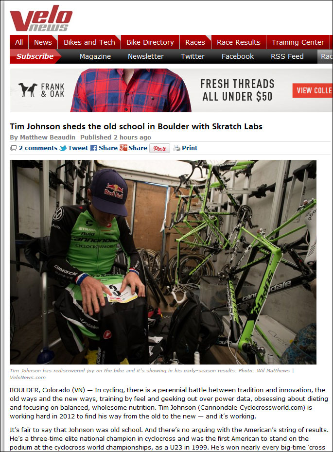 Tim Johnson velonews Skratch Labs