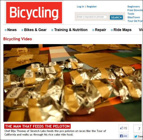 Bicycling Biju Thomas man who feeds the peloton