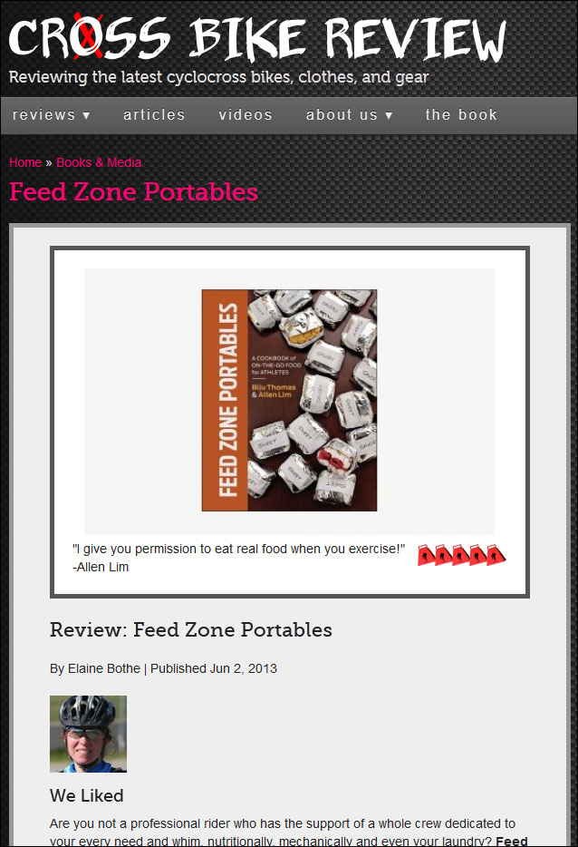 Feed Zone Portables review Crossbikereview