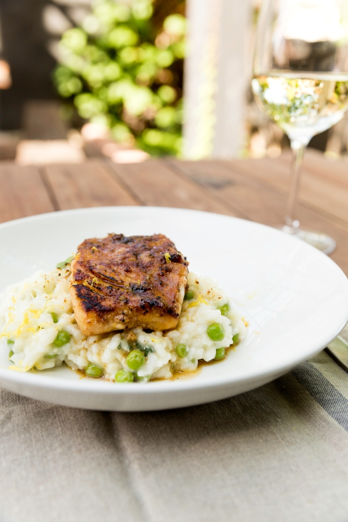 Miso and Maple Marinated Cod with Sweet Pea Risotto from Feed Zone Table by Biju Thomas and Allen Lim
